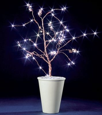 LED-Baum 60 BS weiss kupfer innen