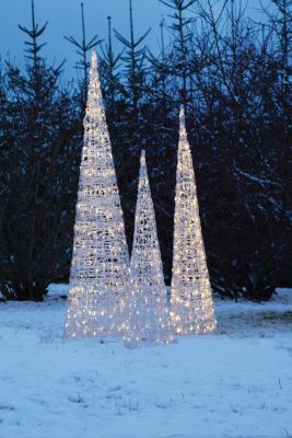 LED-Acryl-Pyramide 120cm 120 BS warmweiss aussen