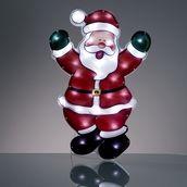 Hellum LED-Weihnachtsmann holografisch außen