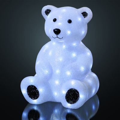 Hellum EVA LED-Teddybaer 42cm 85 BS weiss aussen