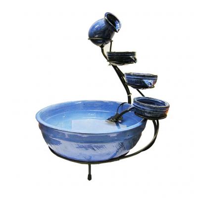 Ubbink Keramik Brunnen, blau