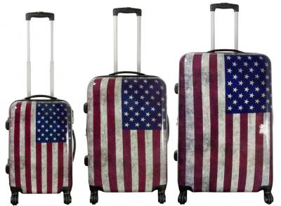 Kofferset 3 tlg. Trolleyset Reisekoffer Hartschale Washington