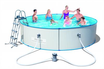 Bestway 56377 Hydrium Splasher Stahlwandpool Set, rund mit Filterpumpe + Zubehör,  360 x 90 cm