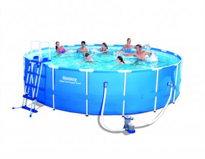 Bestway 56462 Frame Pool Steel Pro Set mit Filterpumpe + Zubehör  549 x 122 cm