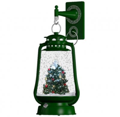 Christmas Paradise Schneiende LED Laterne 35cm Motiv Baum INNEN