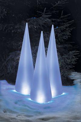 LED-Pyramide Pylon 120cm 16 BS weiß außen