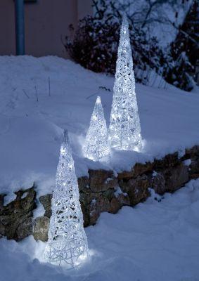 LED-Pyramide Acryl-Kegel 70cm 48 BS weiß außen