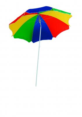 Strand- und Sonnenschirm, knickbar, 180 cm