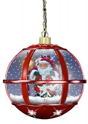 monopol Schneiende LED Hängelaterne 35 cm, Santa rot