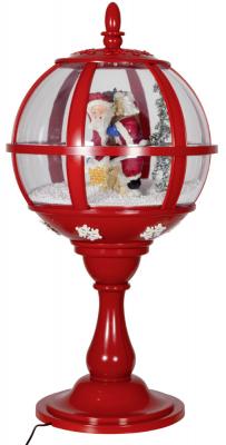 Christmas Paradise Schneiende LED Tischlaterne 60 cm, Santa rot