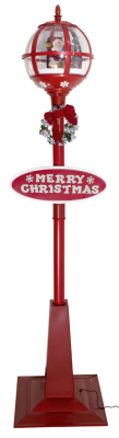 Christmas Paradise Schneiende LED Stand-Laterne 175 cm, Santa rot