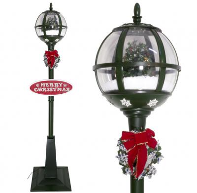Christmas Paradise Schneiende LED Stand-Laterne 175 cm, grün, mit Baum