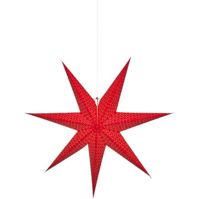 Best Season Weihnachtsstern rot glänzendes Papier