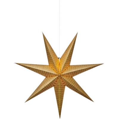 Best Season Weihnachtsstern gold glänzendes Papier