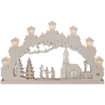 Weihnachtsleuchter, Schwibbogen Original Erzgebirge Sternsinger