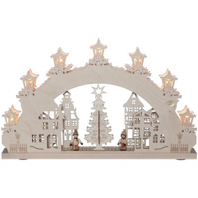 Original Erzgebirge Weihnachtsleuchter, Schwibbogen Weihnachtsmarkt