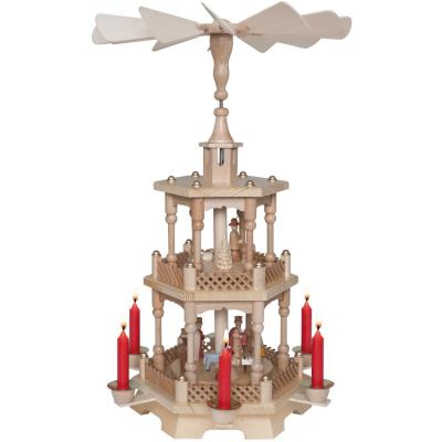 Weihnachtspyramide, 2-stufig, für 6 Pyramidenkerzen