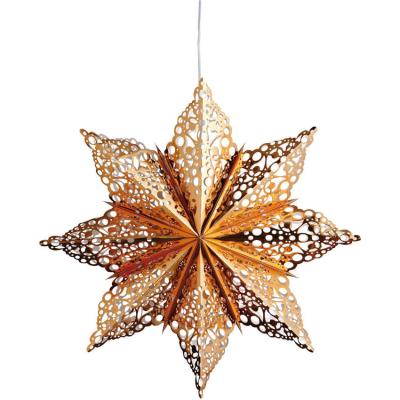 Mark Slöjd Weihnachtsstern MÄRTA Papier bronze glänzend
