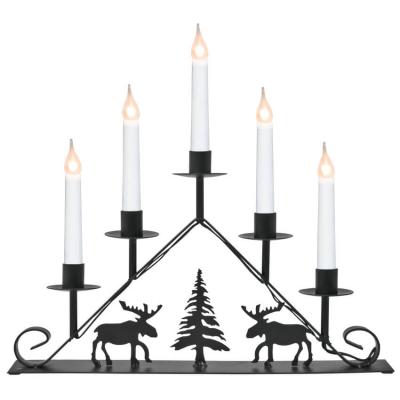 Weihnachtsleuchter, Schwibbogen Metall schwarz