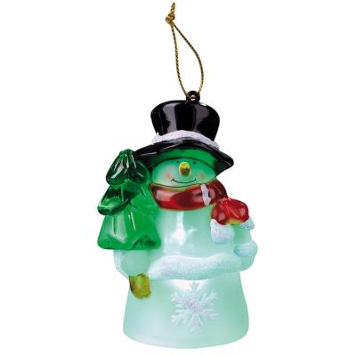 LED-Figur, 1 LED Schneemann Hut/Baum mit Farbwechsler