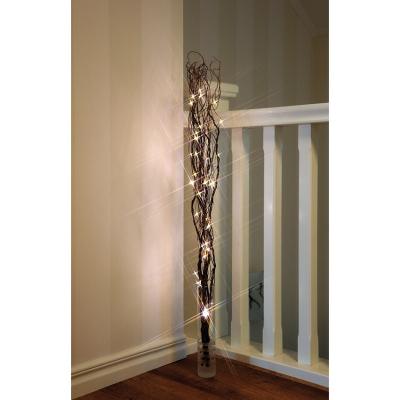 Best Season Weidenzweige mit 60 warmweißen LEDs Holz