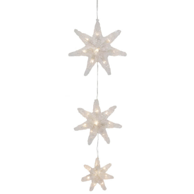 Konst Smide LED Sternenkette mit 15 warmweißen LEDs batteriebetrieben