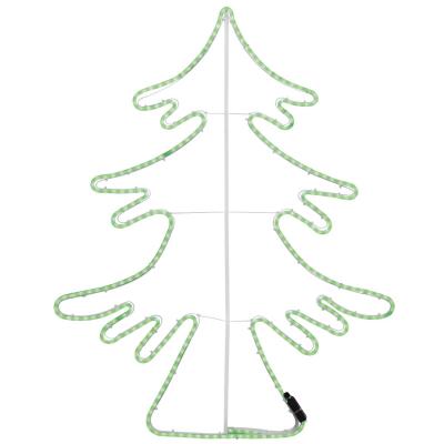 LED-Tannenbaum, LED-Lichtschlauchmotiv, grüne LEDs,