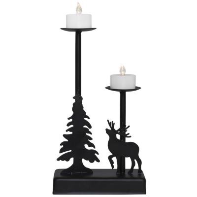 Weihnachtsleuchter, 2 warmweiße LEDs,  WALDER schwarz