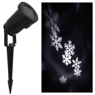 LED-Projektor, 4 LEDs, rotierende Schneeflocken