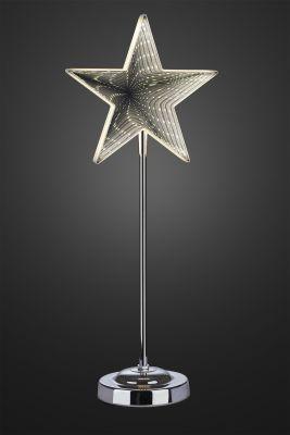Hellum LED-Infinity-Stern m.Standfuß 45cm 42 BS warmweiß innen batteriebetrieben