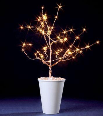 LED-Baum 50cm 60 BS gelb/kupfer innen