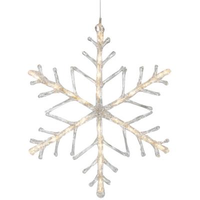 Konst Smide LED-Fensterbild Schneeflocke 24 warmweiße LEDs