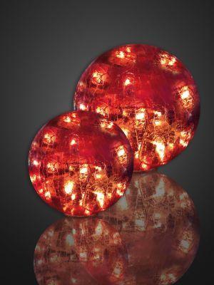 LED-Glaskugel Rissoptik 25cm 24 BS rot innen
