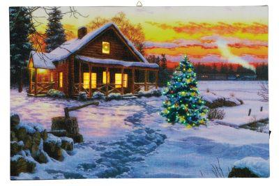 LED-Bild Fiberoptik Winterdämmerung multicolor innen