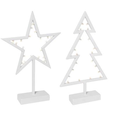 LED-Tannenbaum und Stern je 20 LEDs batteriebetrieben
