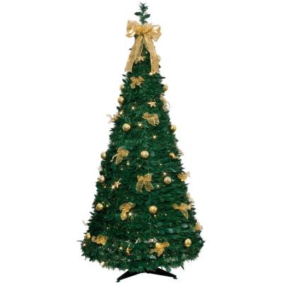 LED-Tannenbaum, 80 warmweiße goldene LEDs, H 1900 mm