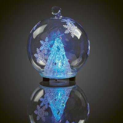 LED-Glaskugel Weihnachtsbaum 1 BS RGB