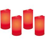 LED-Echtwachskerzen, 4er-Set, je 2