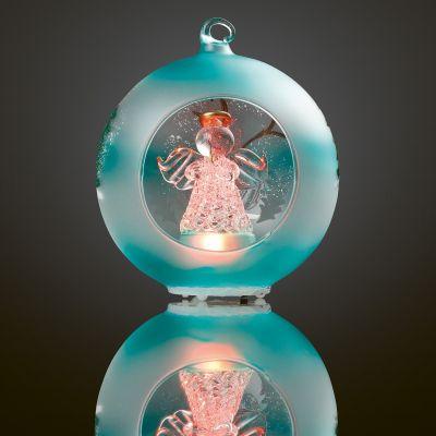 LED-Glaskugel Engel 1 BS RGB