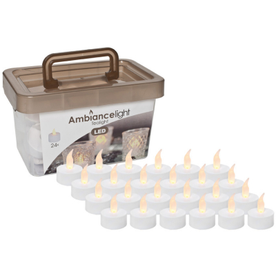 LED-Teelichter, 24er-Set, batteriebetrieben