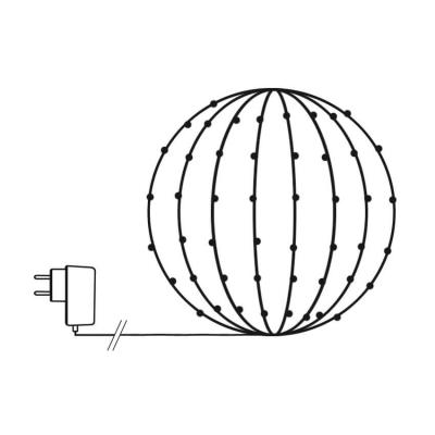 Koopman International B.V. LED-Lichternetz für Buchsbaumkugeln  90cm