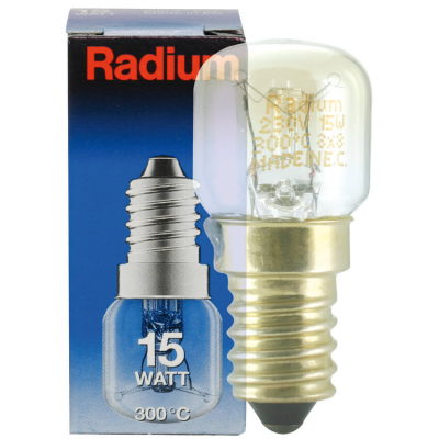 Radium Backofenlampe, E14/15W, Birnenform,