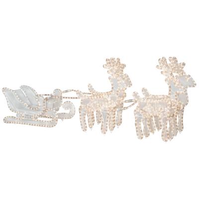Lichtschlauch-Motiv 4 Rentiere mit Schlitten