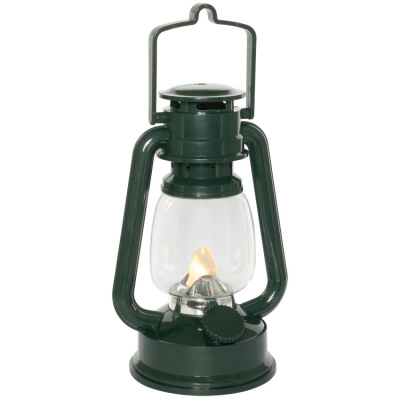 Konst Smide LED-Laterne flackerndes Licht grün batteriebetrieben