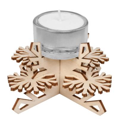 Tischdekoration Schneeflocke Holz