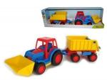 Basics Traktor mit Schaufel mit Hänger (im Schaukarton)