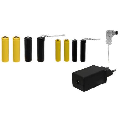 Umrüstsatz von Batterie auf Netzteil für Batteriefächer 2 Zuleitungen