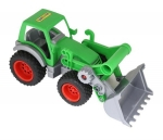 Farmer Technic Traktor mit Frontschaufel (im Schaukarton)