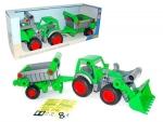 Farmer Technic Traktor mit Frontschaufel + Kippanhänger