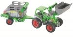 Farmer Technic Traktor mit Frontschaufel und Viehanhänger